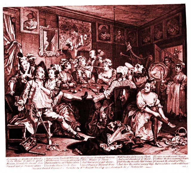 """""""The Rake's Progress, Plate 3""""- Willam Hogarth, 1735"""
