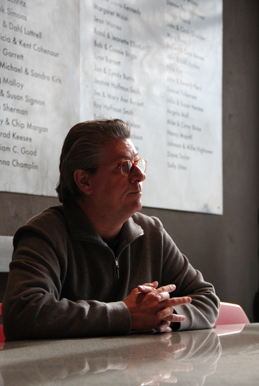 Director Jon Burris talks to OKC.NET about his interests and how Artspace at Untitled came to be. Photo by Helen Grant