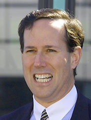It's really easy to find photos of Rick Santorum looking creepy