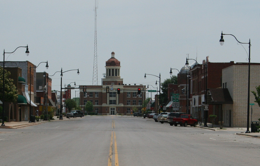 Sayre Main Street and Beckham County Courthouse