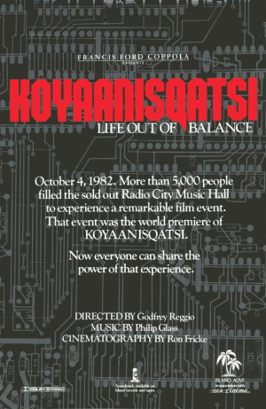Koyaanisqatsi poster 20 Documentaries Everyone Should See, Pt 1