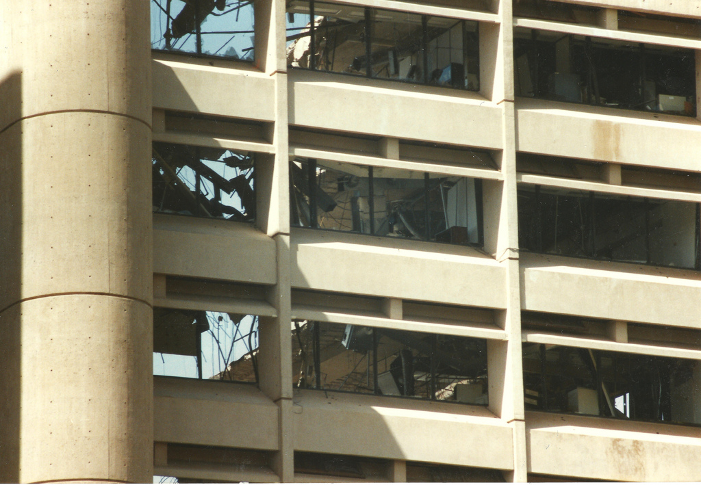 Murrah Federal Building after the blast, April 1995. Photo provided by private collector.