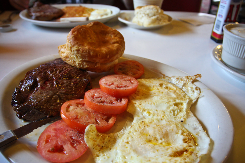 Steak & Eggs (literally)