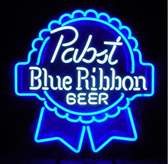 PabstBlueRibbonBeerNeonBlueWhite1 Beer Review: $1.75 Wont Do