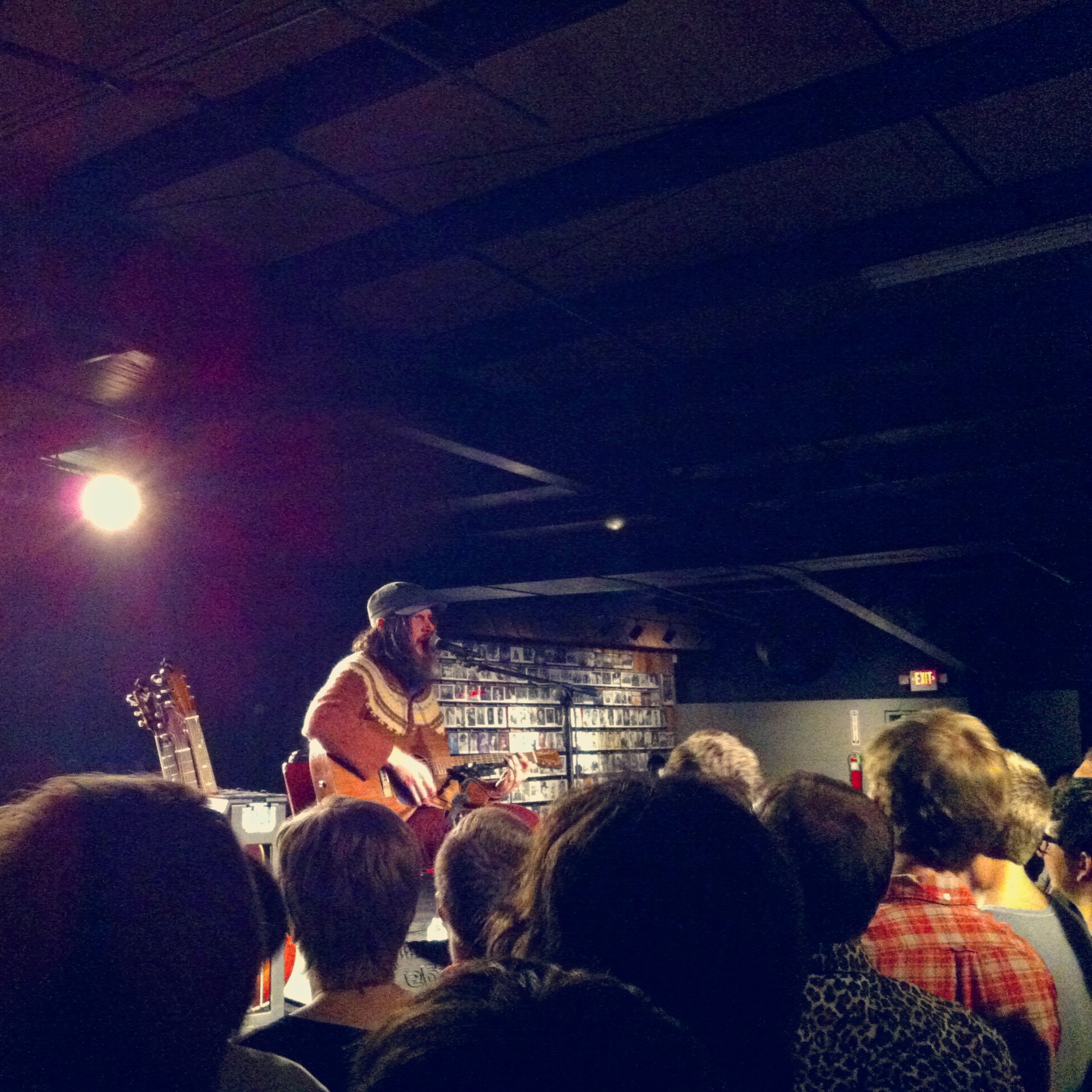 Jeff Mangum during his solo acoustic tour at the Diamond Ballroom this past Saturday. Photo by Helen Grant