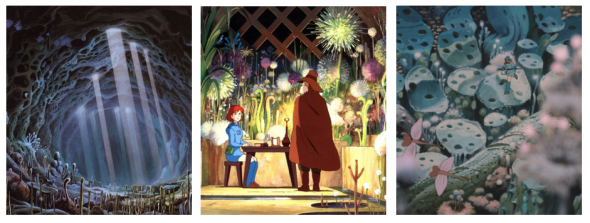 Simply lush, detailed, and beautifully colored - these are scenes from Nausicaä of the Valley of the Wind