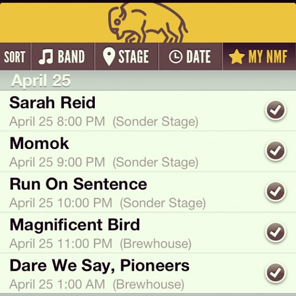 Norman Music Festival? Yeah, there's an app for that. Photo courtesy of Sarah Reid.