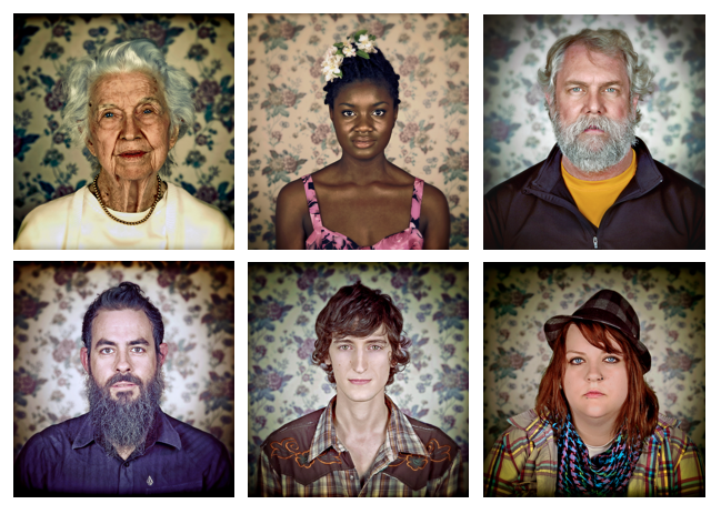 A sample of the faces you'll see at the sneak preview at Stash this Friday on the Second Friday Art Walk.