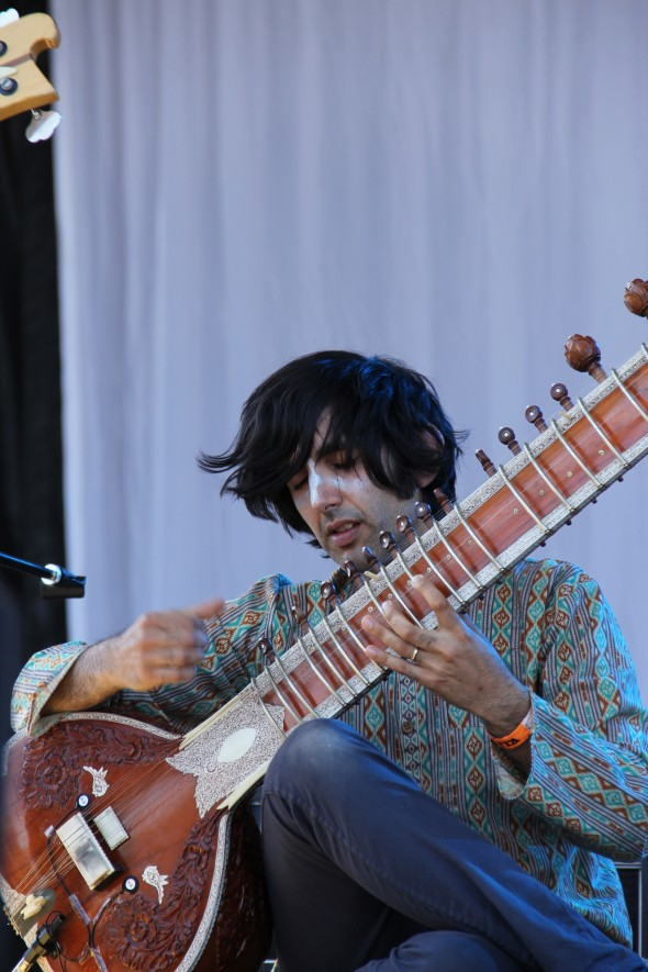 Rishi Dhir is the frontman of Elephant Stone. They played the Reverberation Stage Saturday afternoon. Photo: Helen Grant