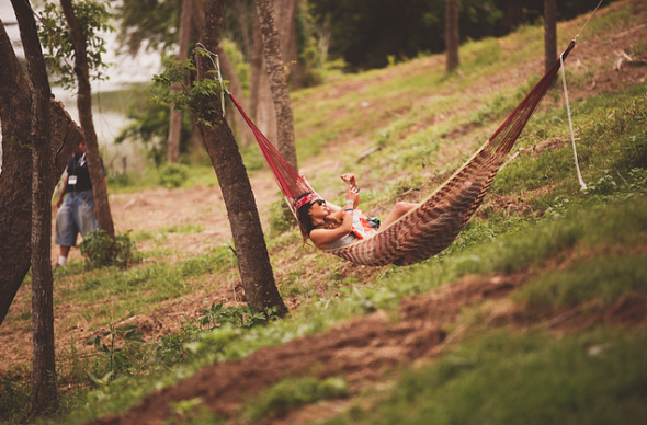 There were hammocks else where too. Photo: Pooneh Ghana
