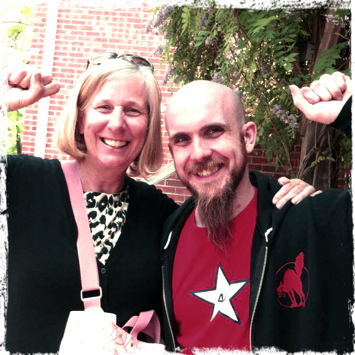 Cindy Sheehan and Zakk Flash. Photo courtesy of Dr. Zakk Flash.