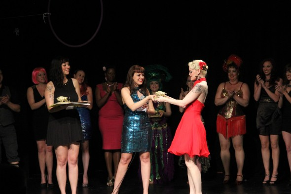 Dangerrr Doll received her award for Saturday night's performance.