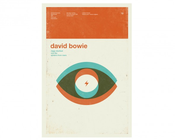 David Bowie, how I love thee. Let me count the ways: 1. This clearly references Ziggy Stardust and Aladdin Zane. 2. Bowie's eyes are trippy in real life, not because they are two different colors, but because an accident causes one pupil to remain dilated, and 3. He had a minimalist period.