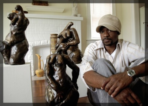 Nathan Lee is a painter and sculptor in addition to being in charge of Inclusion in Art.
