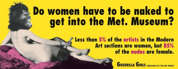 Photo from http://www.guerrillagirls.com/posters/nakedthroughtheages.shtml