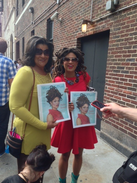 """Courtesy of Mark Kates. Valerie June outside Late Show with David Letterman studios."""