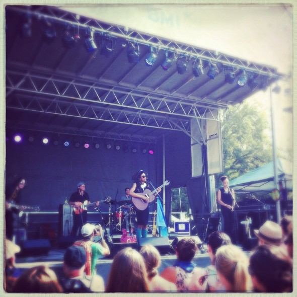 "June played the BMI stage on Saturday afternoon. Song: ""The Hour."""