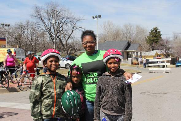 Chere Denmark said Zion Mason, 10, Faith Mason, 6, and Nyrie Mason, 8, all got bike helmets with Safe Kids Oklahoma. The children had skates and bikes, but didn't have helmets, now that they do she said the next item is knee and elbow pads.