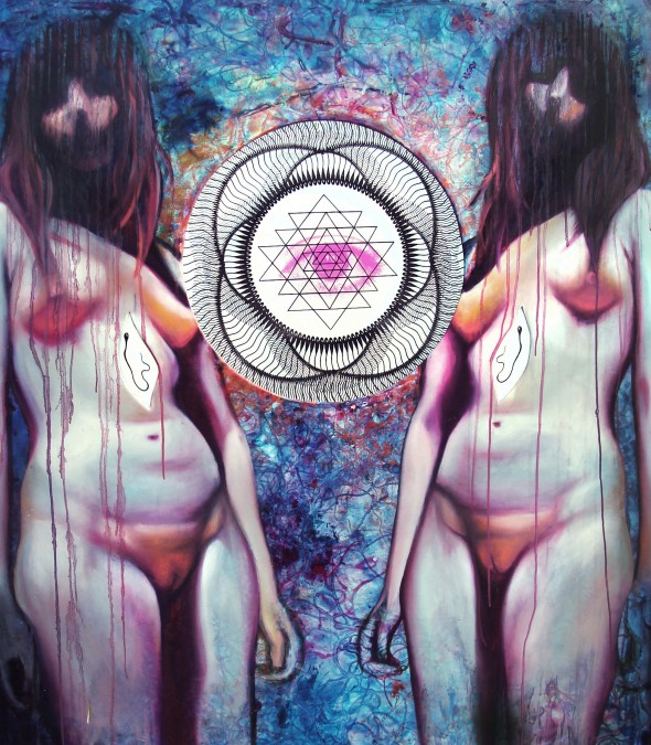 BTA Artist: Andrea Duran Kind of psychedelic and I believe I have seen her work at Dreamer Concept Studios in Norman.