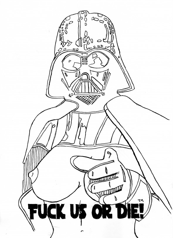 BTA Artist: Austin Reams For the pop culture enthusiasts, a little Dark Side reference.