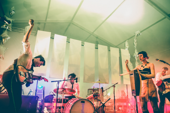 Octopus Project. Photo Cred: PoonehGhana, APF 2014