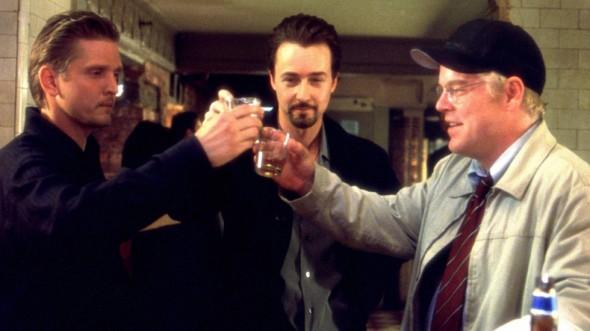 (From left) Barry Pepper, Edward Norton, Philip Seymour Hoffman