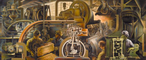 """Automotive Industry"" - Mural by Marvin Beerbohm in the Detroit Public Library"